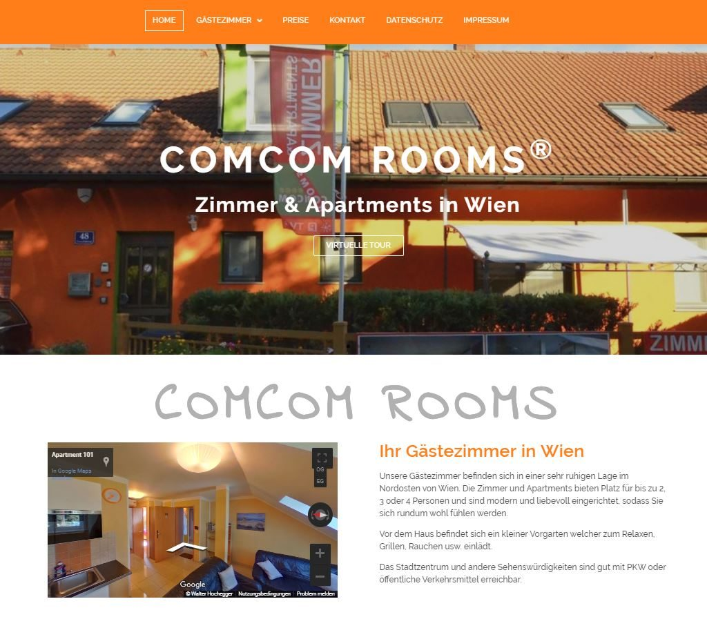 Website site-com-rooms-Vienna